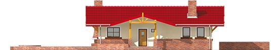 Emilia - Projekt domu Emilia - elewacja frontowa