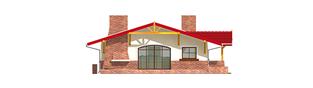 Projekt domu Emilia - elewacja lewa
