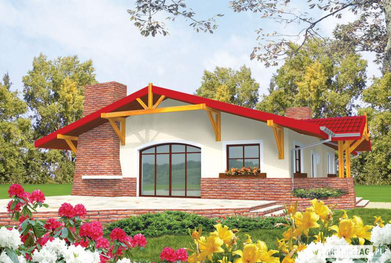 Projekt domu Emilia - wizualizacja ogrodowa