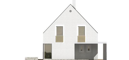 Brunon - Projekt domu Brunon - elewacja lewa