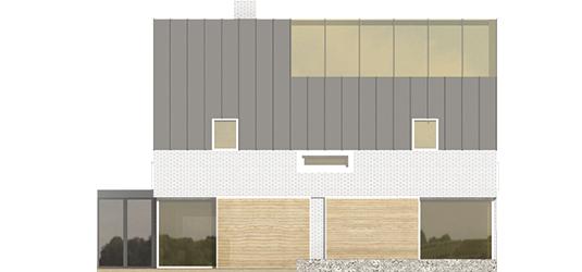 Brunon - Projekt domu Brunon - elewacja tylna