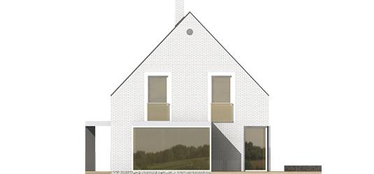 Brunon - Projekt domu Brunon - elewacja prawa