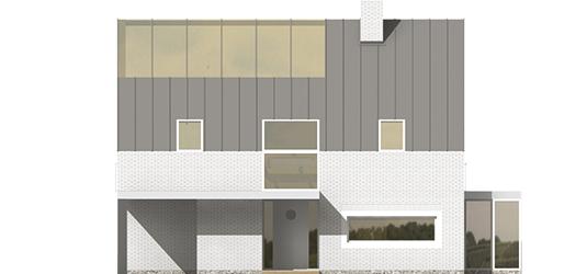 Brunon - Projekt domu Brunon - elewacja frontowa