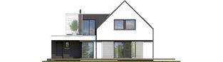 Projekt domu Markus G1 - elewacja tylna