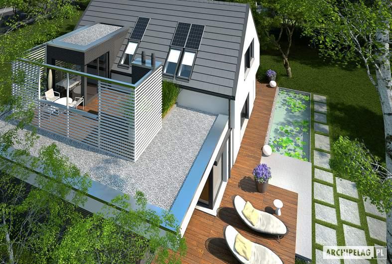 Projekt domu Markus G1 - widok z góry na taras