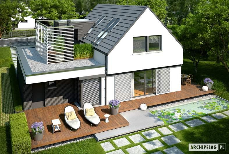 Projekt domu Markus G1 - widok z góry