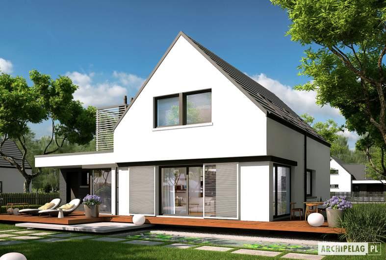 Projekt domu Markus G1 - wizualizacja ogrodowa