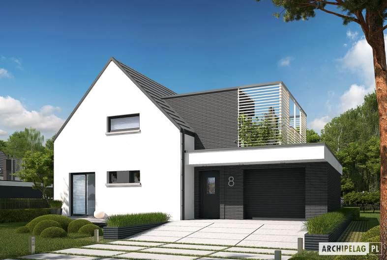 Projekt domu Markus G1 - wizualizacja frontowa