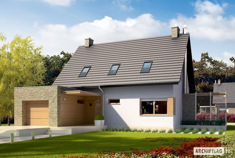 Projekt domu Tobiasz G1 ENERGO - wizualizacja frontowa