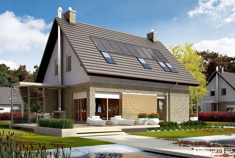 Projekt domu Tobiasz G1 ENERGO - wizualizacja ogrodowa