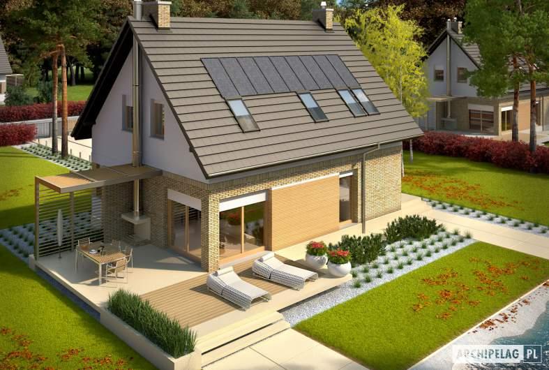 Projekt domu Tobiasz G1 ENERGO - widok z góry