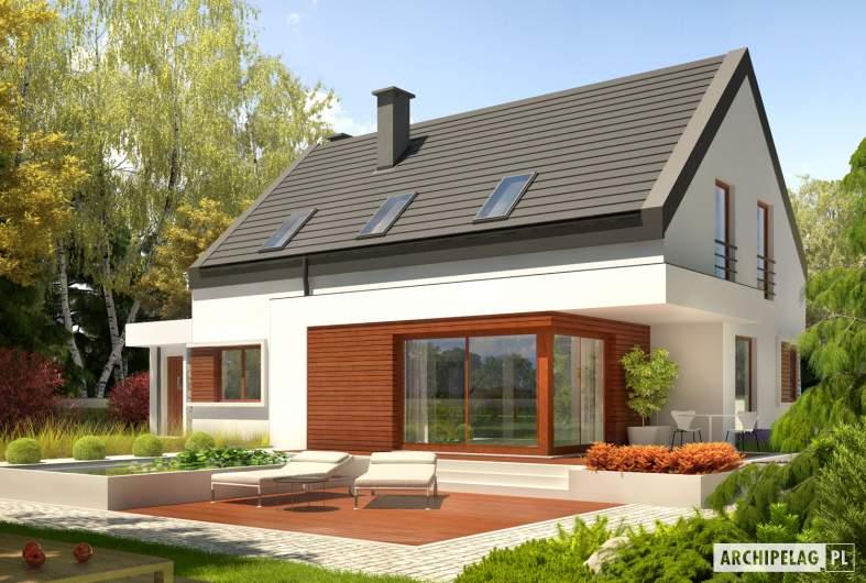 Projekt domu Patryk IV G1 - Projekty domów ARCHIPELAG - Patryk IV G1 - wizualizacja ogrodowa