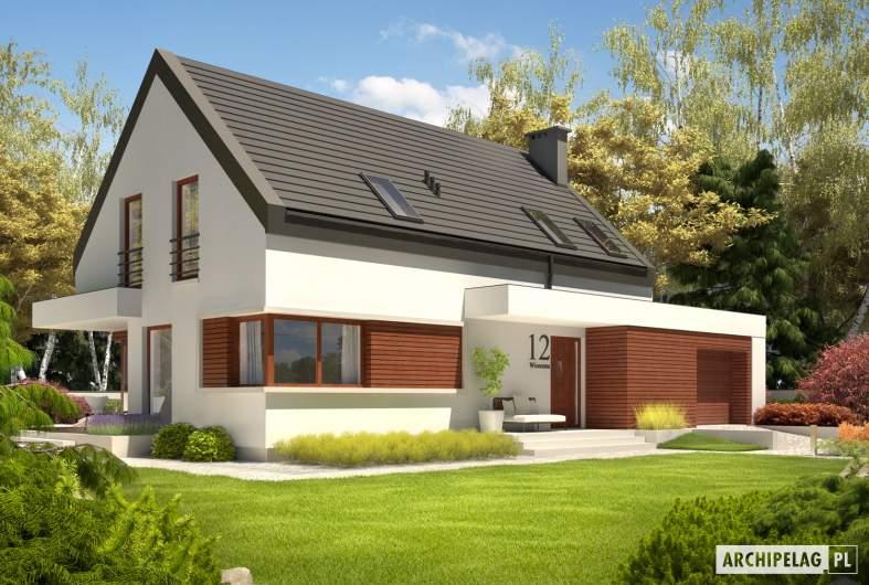 Projekt domu Patryk IV G1 - Projekty domów ARCHIPELAG - Patryk IV G1 - wizualizacja frontowa