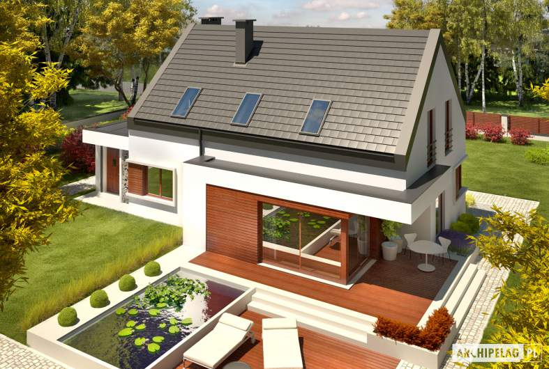 Projekt domu Patryk IV G1 - Projekty domów ARCHIPELAG - Patryk IV G1 - widok z góry