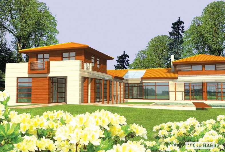 Projekt domu Dionizy G3 - wizualizacja ogrodowa