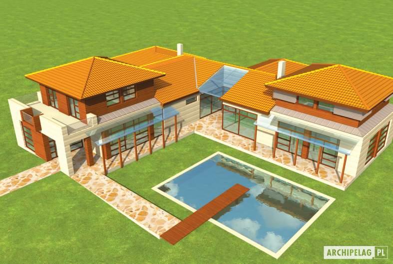 Projekt domu Dionizy G3 - widok z góry