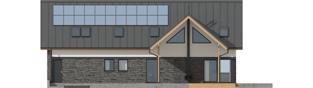 Projekt domu Nikolas II G2 ENERGO PLUS - elewacja tylna
