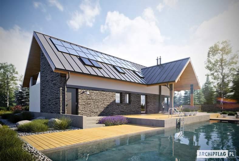 Projekt domu Nikolas II G2 ENERGO PLUS - wizualizacja ogrodowa
