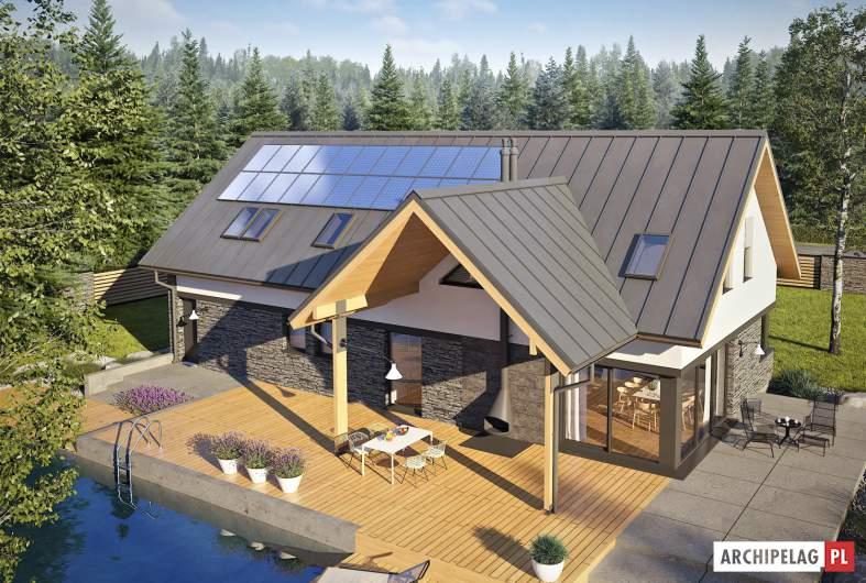 Projekt domu Nikolas II G2 ENERGO PLUS - widok z góry