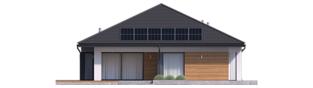 Projekt domu Tanita III G2 ENERGO PLUS - elewacja tylna
