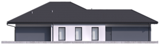 Projekt domu Tanita III G2 ENERGO PLUS - elewacja lewa