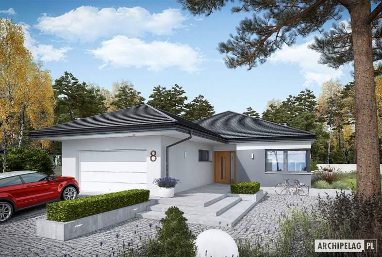 Projekt domu Tanita III G2 ENERGO PLUS - wizualizacja frontowa