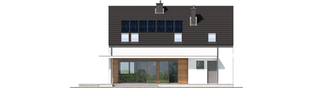 Projekt domu E4 G1 (wersja A) MULTI-COMFORT - elewacja tylna