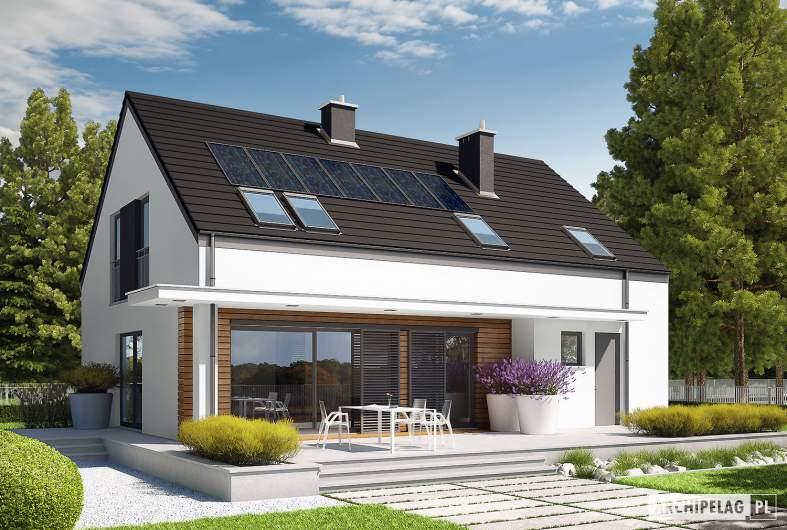 Projekt domu E4 G1  (wersja A) MULTI-COMFORT - wizualizacja ogrodowa