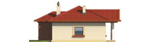 Projekt domu Jagna - elewacja prawa