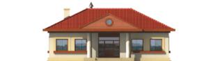 Projekt domu Jagna - elewacja frontowa