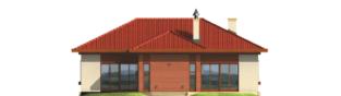 Projekt domu Jagna - elewacja tylna