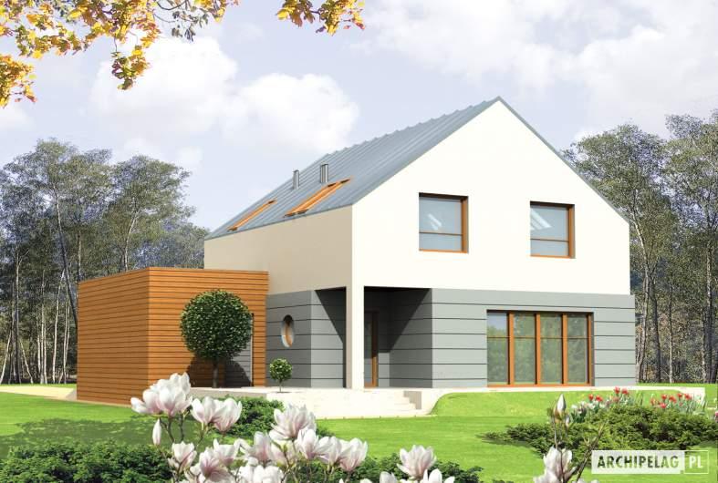 Projekt domu Marek G1 - wizualizacja ogrodowa