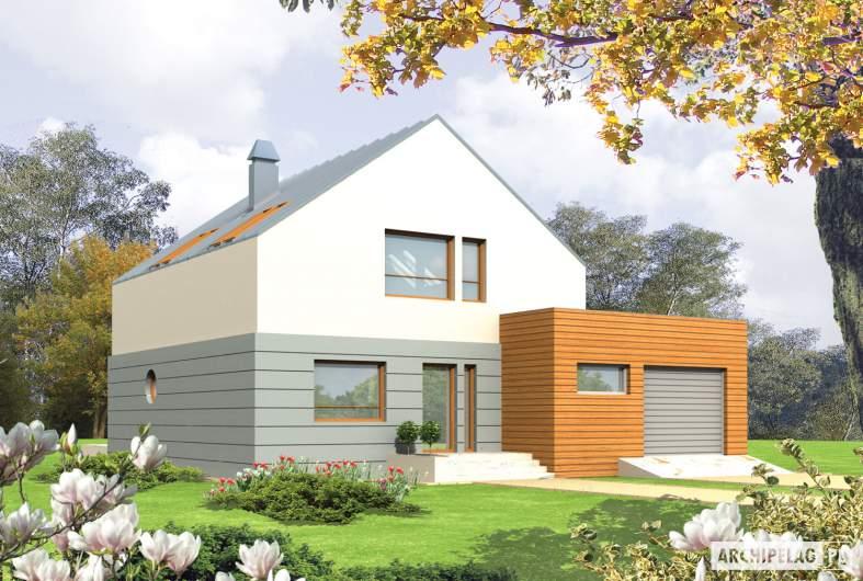 Projekt domu Marek G1 - wizualizacja frontowa