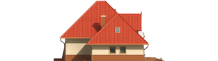Projekt domu Izolda G1 - elewacja lewa