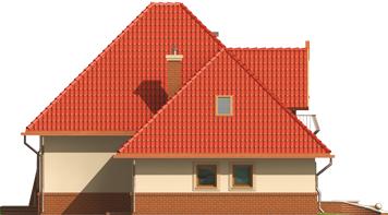 Izolda G1 - Projekt domu Izolda G1 - elewacja lewa