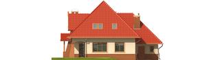 Projekt domu Izolda G1 - elewacja tylna