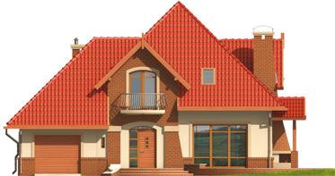 Izolda G1 - Projekt domu Izolda G1 - elewacja frontowa