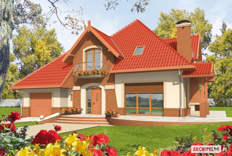 Projekt domu Izolda G1 - wizualizacja frontowa