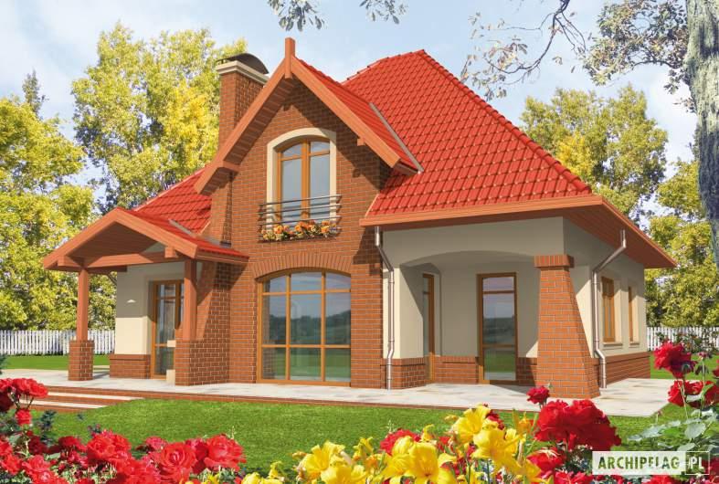 Projekt domu Izolda G1 - wizualizacja ogrodowa