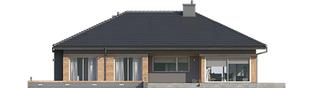Projekt domu Dominik G2 (wersja A) - elewacja tylna