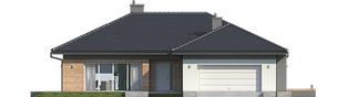 Projekt domu Dominik G2 (wersja A) - elewacja frontowa