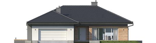 Dominic G2 A - Projekty domów ARCHIPELAG - Dominik G2 (wersja A) - elewacja frontowa