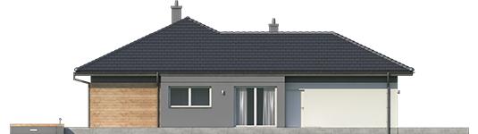 Dominic G2 A - Projekty domów ARCHIPELAG - Dominik G2 (wersja A) - elewacja prawa