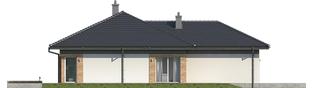 Projekt domu Dominik G2 (wersja A) - elewacja lewa