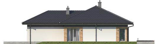 Dominic G2 A - Projekty domów ARCHIPELAG - Dominik G2 (wersja A) - elewacja lewa