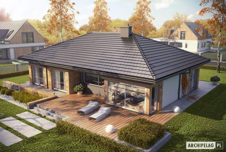 Projekt domu Dominik G2 (wersja A) - Projekty domów ARCHIPELAG - Dominik G2 (wersja A) - widok z góry