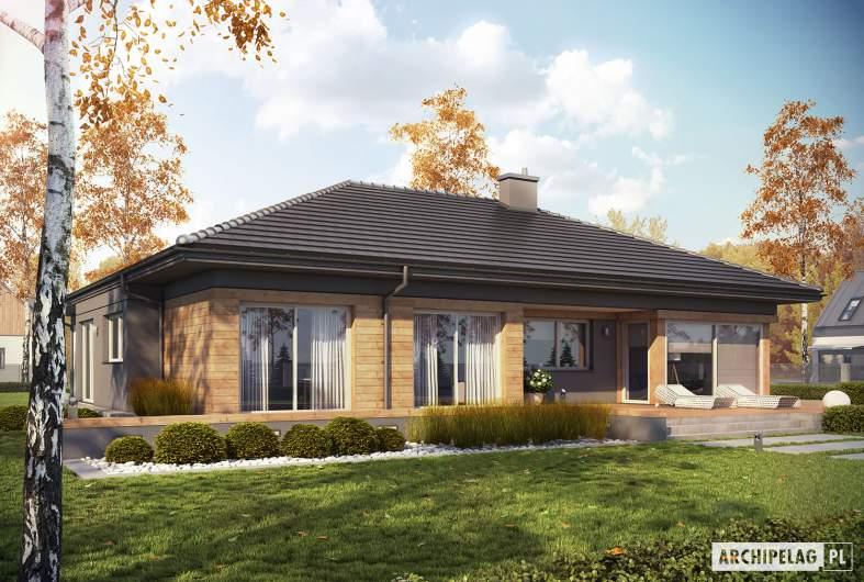 Projekt domu Dominik G2 (wersja A) - Projekty domów ARCHIPELAG - Dominik G2 (wersja A) - wizualizacja ogrodowa