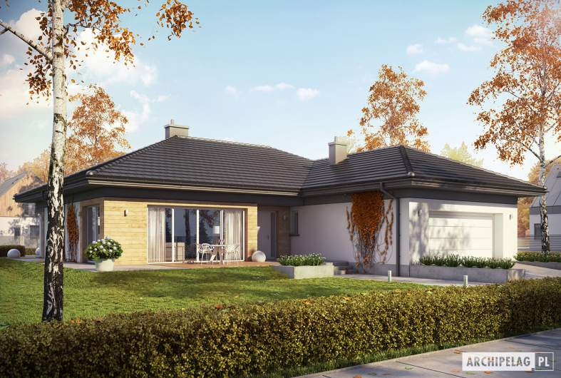Projekt domu Dominik G2 (wersja A) - Projekty domów ARCHIPELAG - Dominik G2 (wersja A) - wizualizacja frontowa