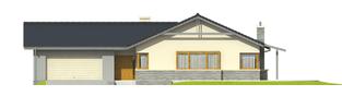 Projekt domu Selena G2 (30 stopni) - elewacja frontowa