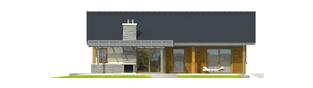 Projekt domu Selena G2 (30 stopni) - elewacja tylna